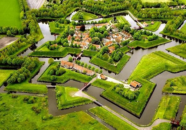 Bourtange luchtfoto